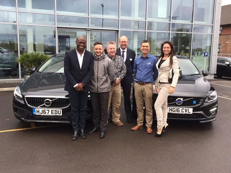 Franchise Sales Manager picks up a brand new Volvo V40