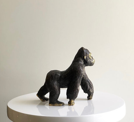 Scultura gorilla in bronzo