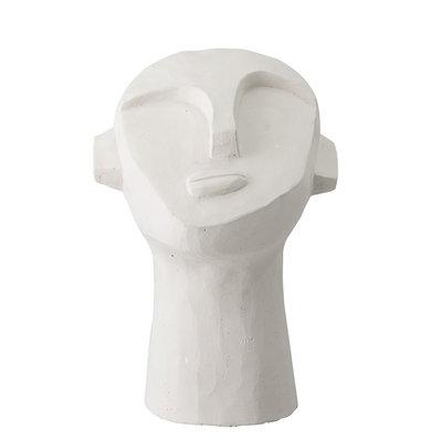 Scultura viso in concrete