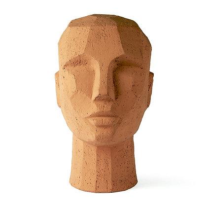 Scultura testa terracotta