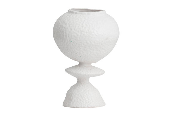 Vaso ceramica bianco smalto Moyo