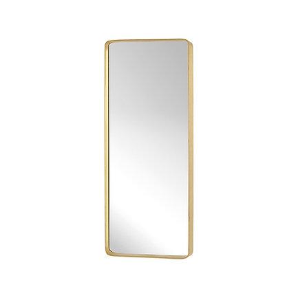 Specchio rettangolare ottone