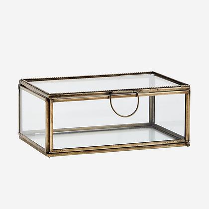 Scatola box in vetro e ottone