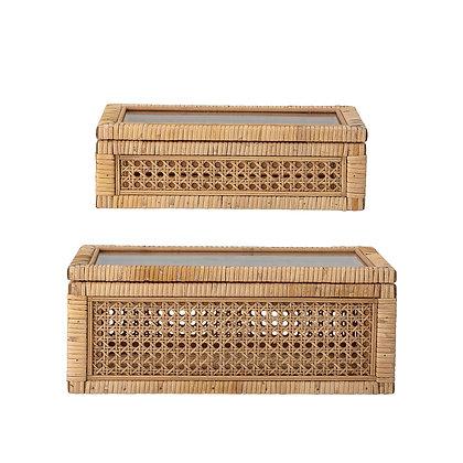 Set 2 scatole box paglia di vienna