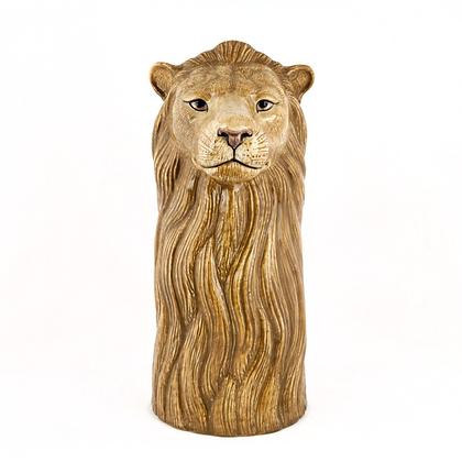 Vaso in ceramica leone