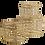 Thumbnail: Set 3 scatole in rete di metallo oro