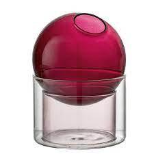 Vaso vetro bordeaux