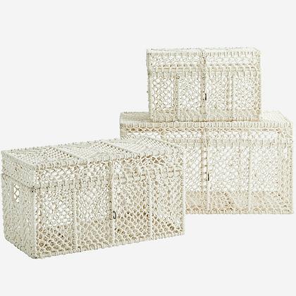 Set 3 cesti bauli in cotone