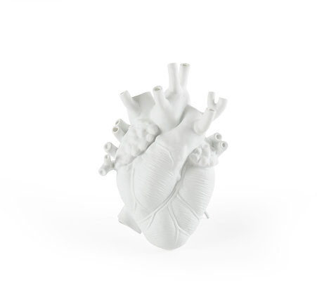 Vaso cuore porcellana love in bloon