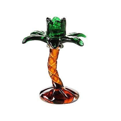 Candelabro in vetro palma