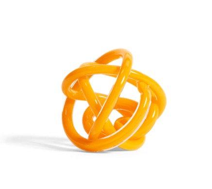 Nodo scultura di vetro ambra small