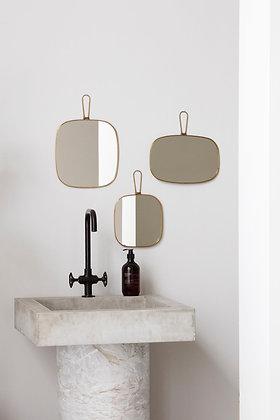 Specchio squadrato in ottone