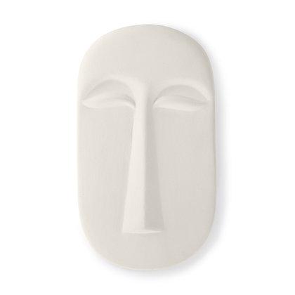 Scultura maschera in terracotta