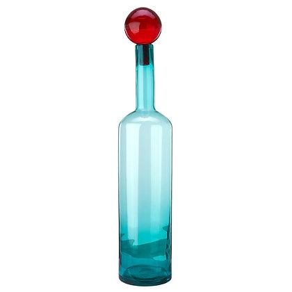 Bottiglia decorativa di vetro colorato XXL