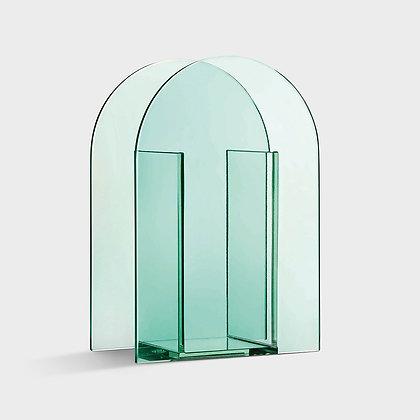Vaso vetro verdo arco