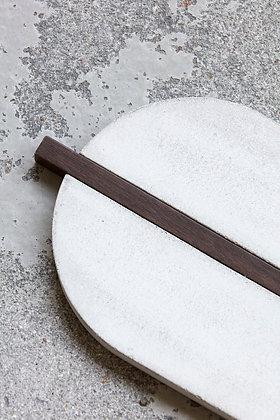 Vassoio in cemento e legno