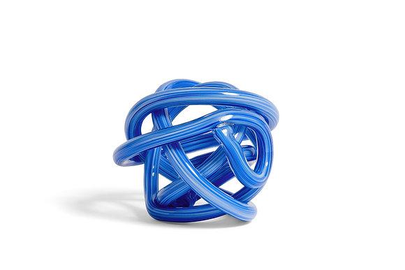 Nodo scultura di vetro blue medio