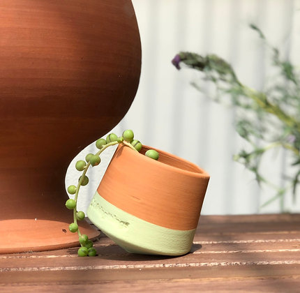 Porta pianta in terracotta Voltasol Nano