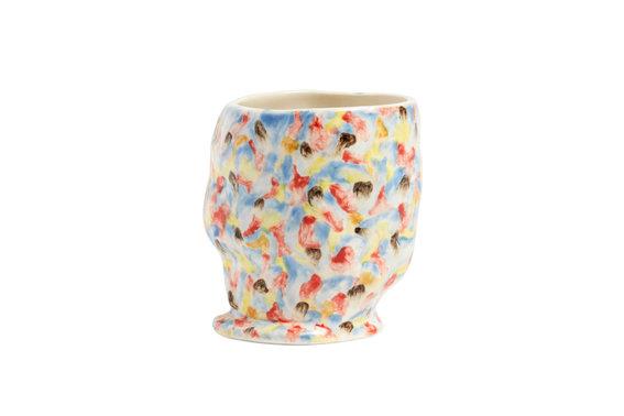 Tazza vaso in gres fatta a mano