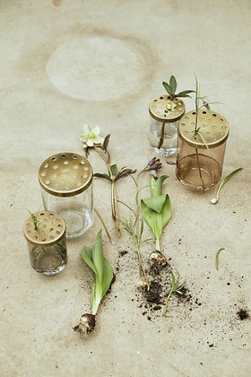 Vaso vetro composizioni fiori
