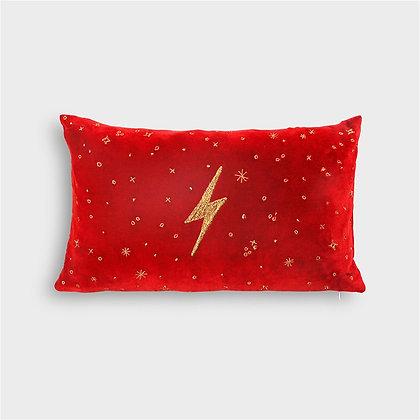 Cuscino fulmine rosso