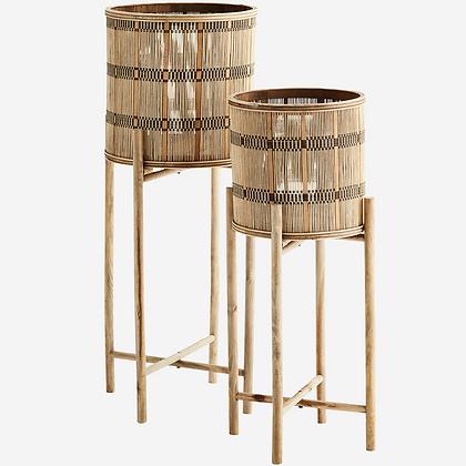 Set 2 porta pianta in bamboo