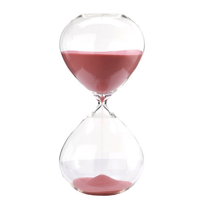 Clessidra in vetro 60 min rosa