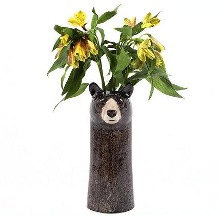 Vaso in ceramica orso bruno