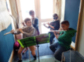 Children learning the flute with Sistema Waikato