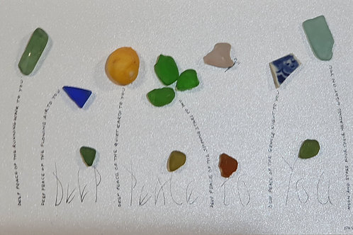 Deep Peace Gaelic Blessing handwritten seaglass picture