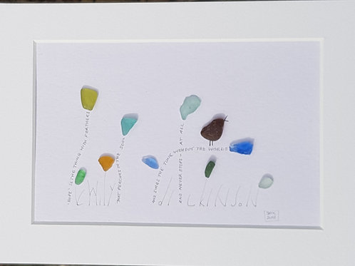 "Seaglass Picture ""Hope"""