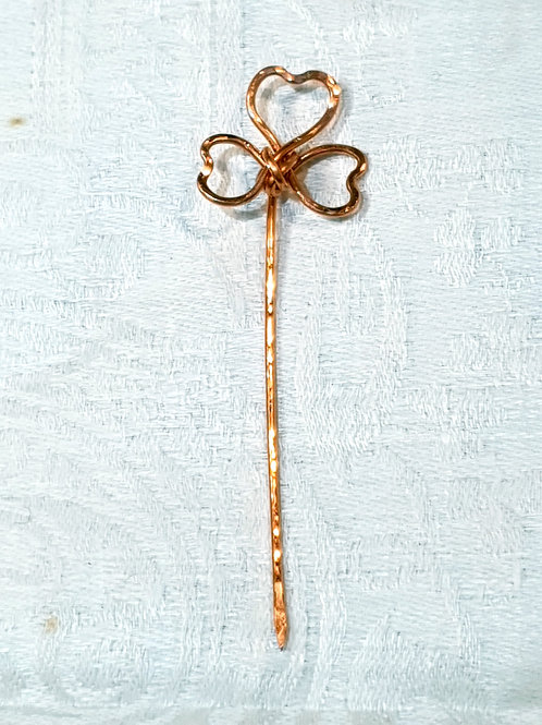 For Ciara. Forged copper lapel pin