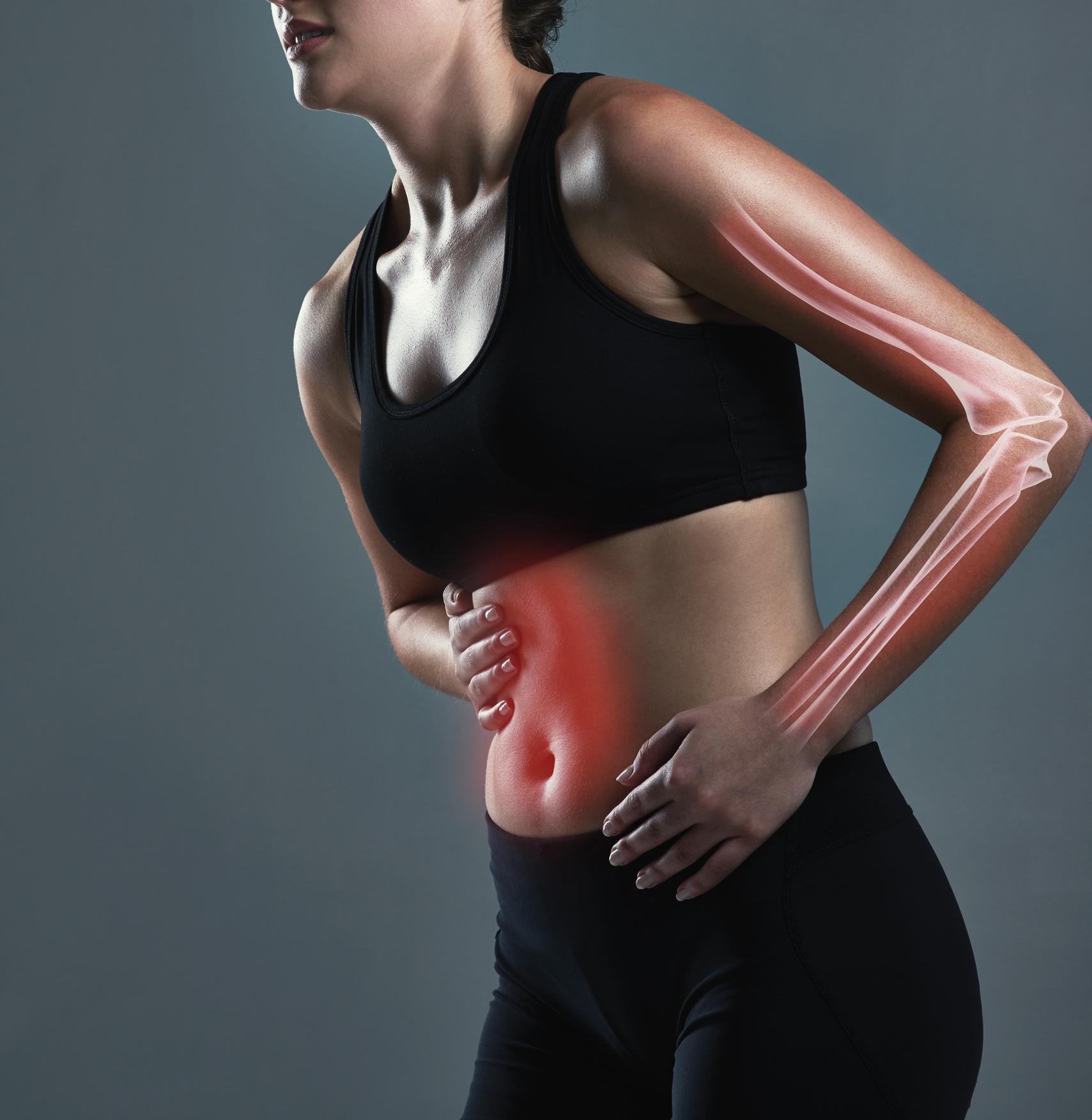 Bauch- und Armschmerzen