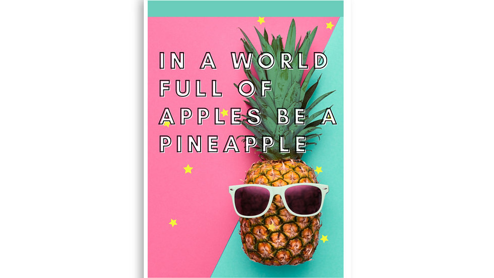 Pineapple Poster A4