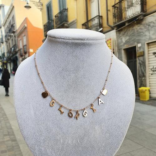 Collana personalizzata Oro