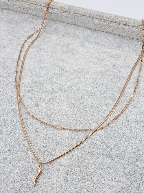 Collana Cornetto 2 fili