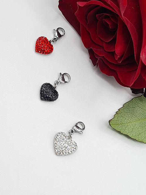 Cuore strass charm