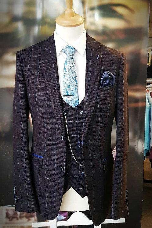 Kerber Skinny Fit 3 Piece Suit