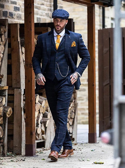 Connall Navy 3 Piece Suit