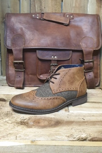 Curtis Tan Lace Up Boot