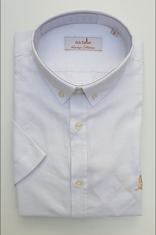 6th Sense Slim Fit Short Sleeve Heritage Shirt with Double Collar 1