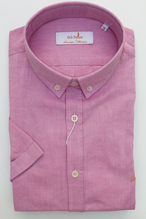 6th Sense Slim Fit Short Sleeve Heritage Shirt with Double Collar 4