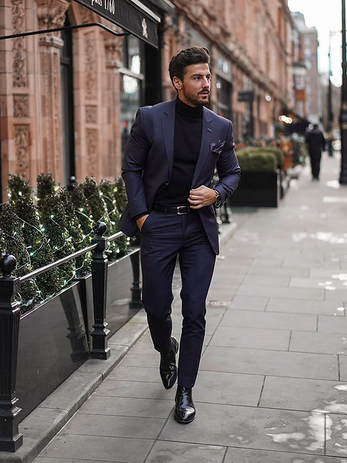 Cavani Seeba Navy 3 Piece Suit