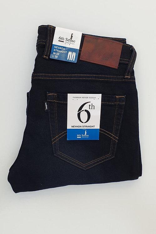 6th Sense Nevada Navy Straight Leg Jeans