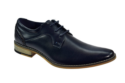 Mike Navy Leather Shoe