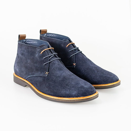 Sahara Navy Lace Up Boot