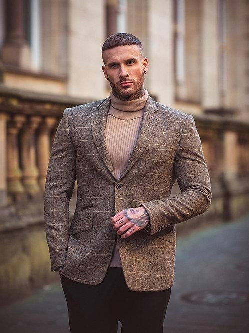 Cavani Brown Tweed Check Blazer (Albert Brown)