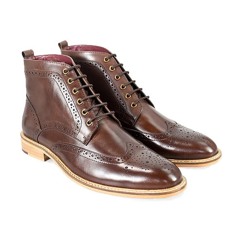Holmes Brown Lace Up Boot