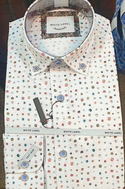 Pattern Shirt by White Label 8326 Multi