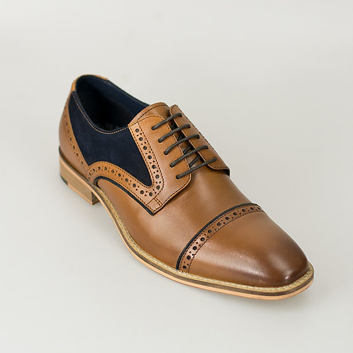 Naples Tan Signature Leather Shoe
